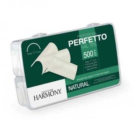 Perfetto Natural Tips 500ks - GELISH - prirodzene pôsobiace tipy na nechty veľkosti 1-10