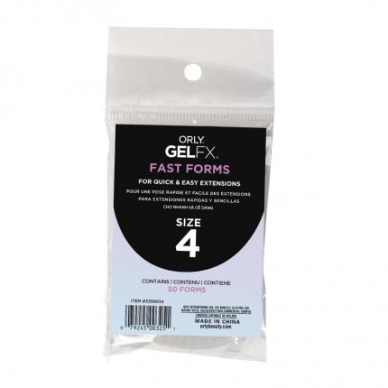 Fast Forms 50ks veľkosť 4 - ORLY GELFX - forma na vytvorenie gélových nechtov