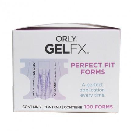 Perfect Fit Nail Form 100ks - ORLY GELFX - šablóna na gélové nechty