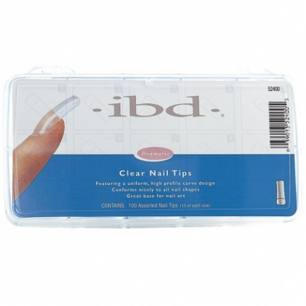 Clear tipy 100ks - IBD - sada priehľadných tipov na nechty