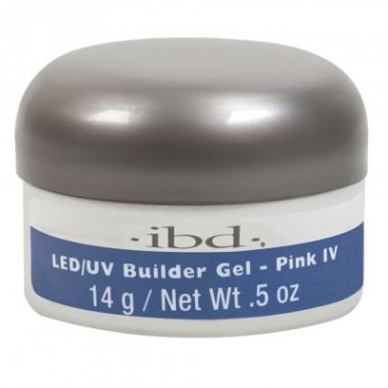 LED/UV Builder Gel Pink IV 14g - IBD - ružový stavebný gél na nechty