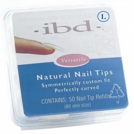 Natural tipy 1 - 50ks - IBD - prirodzene pôsobiace tipy na nechty veľkosti 1