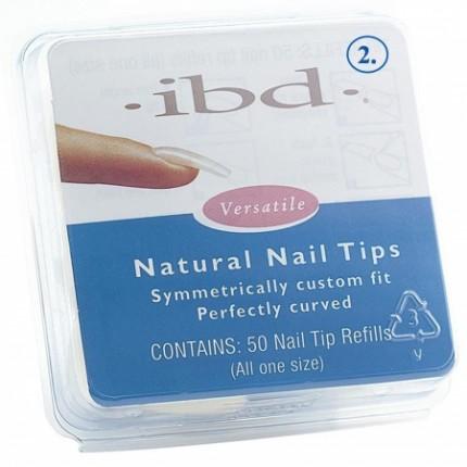 Natural tipy 2 - 50ks - IBD - prirodzene pôsobiace tipy na nechty veľkosti 2