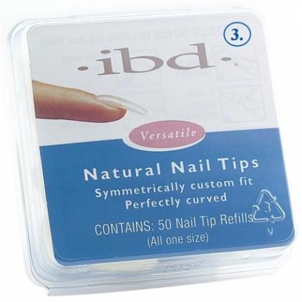 Natural tipy 3 - 50ks - IBD - prirodzene pôsobiace tipy na nechty veľkosti 3