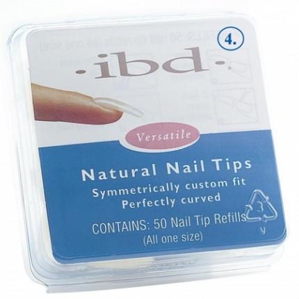 Natural tipy 4 - 50ks - IBD - prirodzene pôsobiace tipy na nechty veľkosti 4
