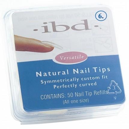 Natural tipy 6 - 50ks - IBD - prirodzene pôsobiace tipy na nechty veľkosti 6