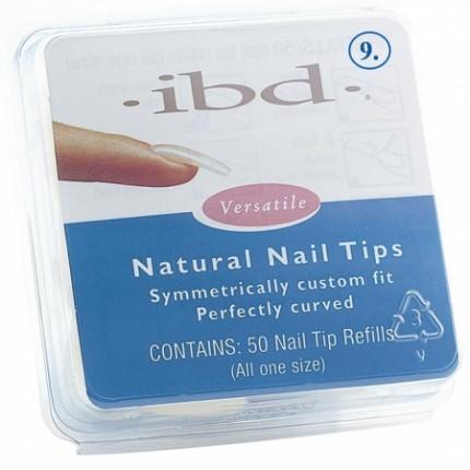 Natural tipy 9 - 50 ks - IBD - prirodzene pôsobiace tipy na nechty veľkosti 9
