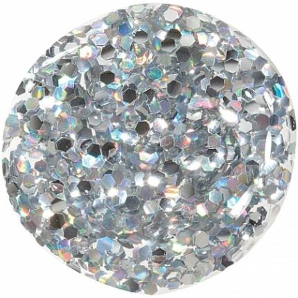 CB Lak Silver Holo Chunky Glitter 11ml